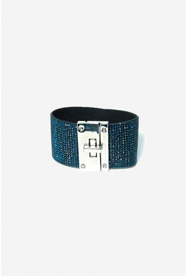Kerri Glitter Cuff in Blue