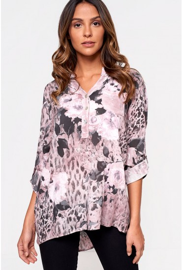 Marissa Printed Top in Rose
