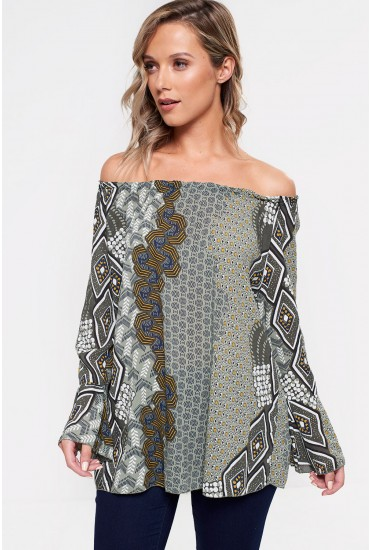 Marissa Printed Top in Green