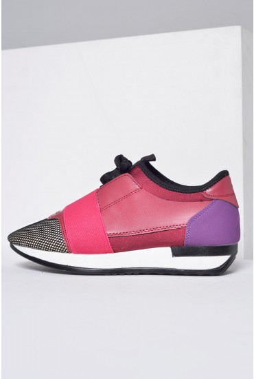 Noelle Trainers in Pink and Purple