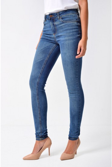 Delly Regular Cropped Jeans in Dark Blue