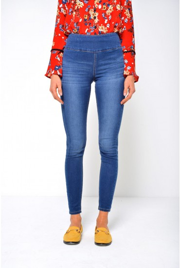 High Waist Betty Jeggings in Medium Blue