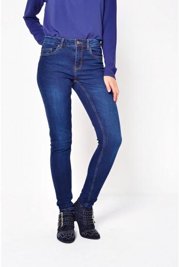 Five Betty Jeans in Dark Blue