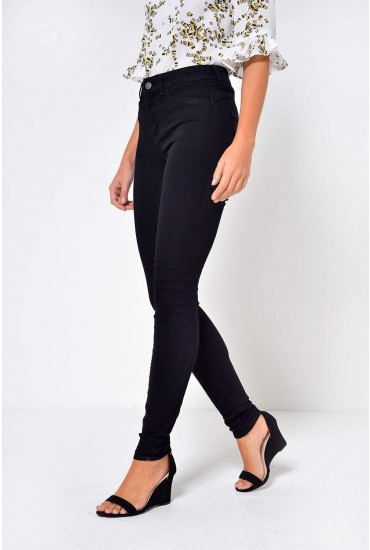Pieces Shape up Jeggings in Black