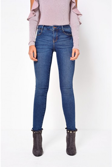 Five Soft Skin Jeans in Medium Blue