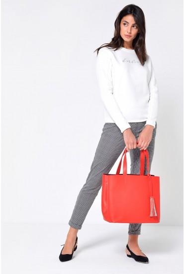 Illu Shopper Bag in Red