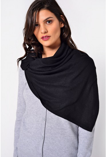 Lambonia Wool Scarf in Black