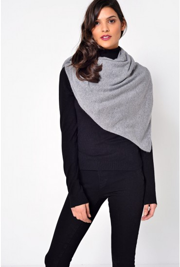 Lambonia Wool Scarf in Light Grey