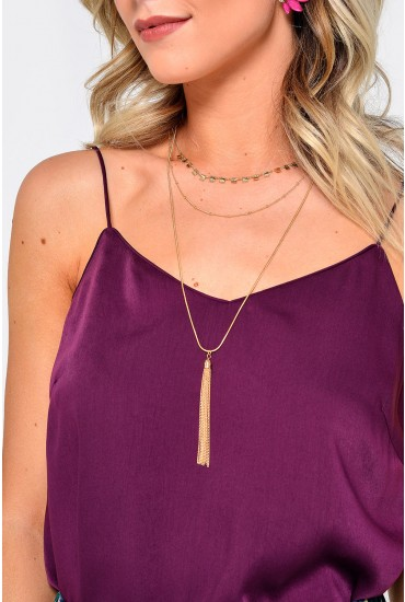 Jewel Combi Necklace in Gold