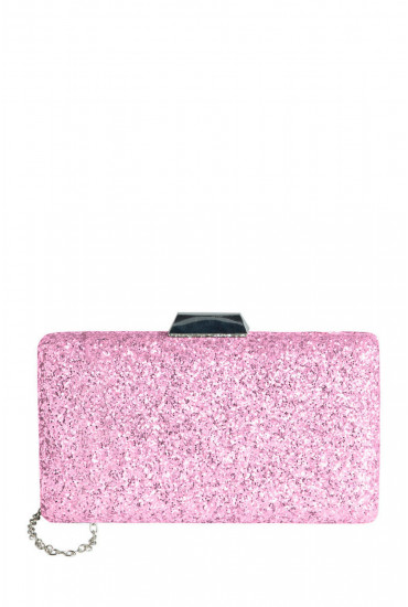 Zussi Glitter Clutch in Pink