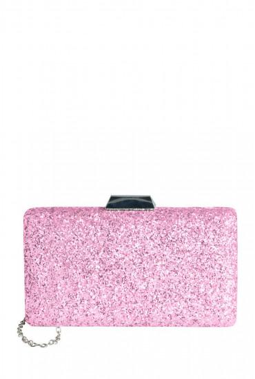 Zussi Glitter Clutch in Pink