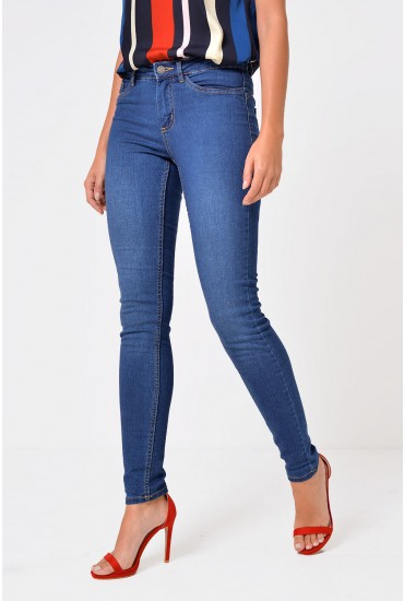 Calla Shape Up Jeggings in Medium Blue Denim