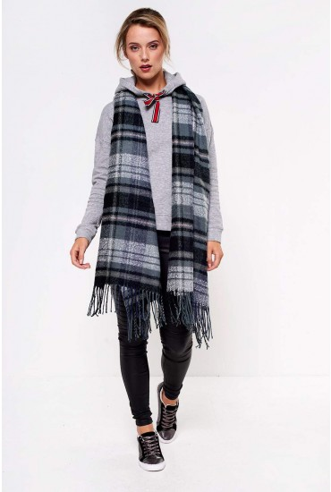 Fian Long Check Scarf