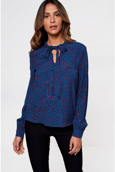 Trudy Long Sleeve Bow Neck Top