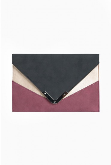 Kahli Colour Block Clutch Bag