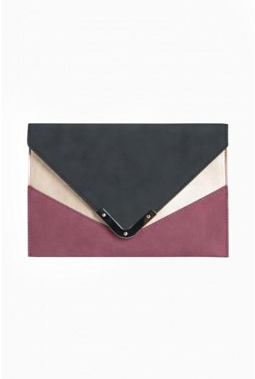 Kahli Colour Block Clutch Bag