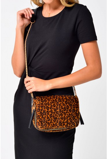 Merey Leopard Cross Body Bag
