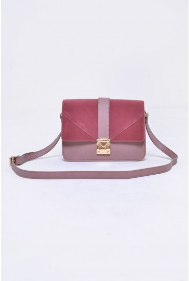Jonna Cross Body Bag in Dust Rose
