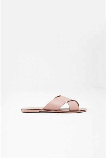 Chara Leather Sandal in Blush Pink