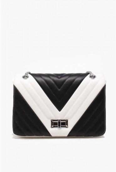 Sofia Chain Strap Bag in Monochrome
