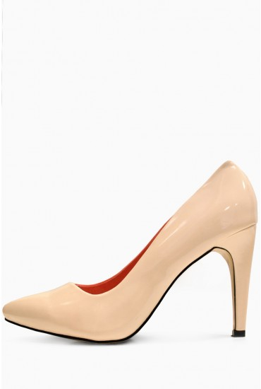 Brona Two Tone Court Shoe in Nude