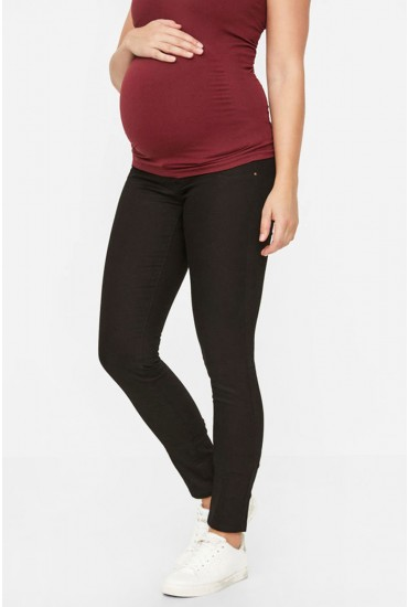 Juliane Maternity Slim Pant in Black