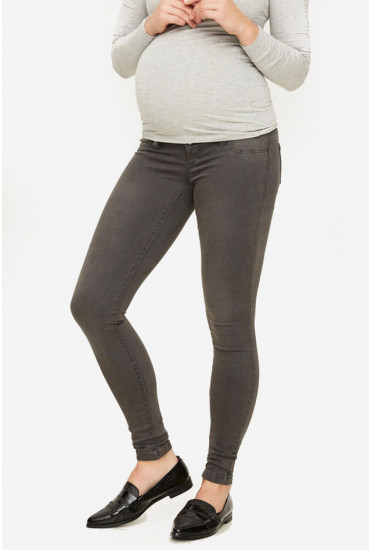 Ella Regular Skinny Maternity Jeans in Grey
