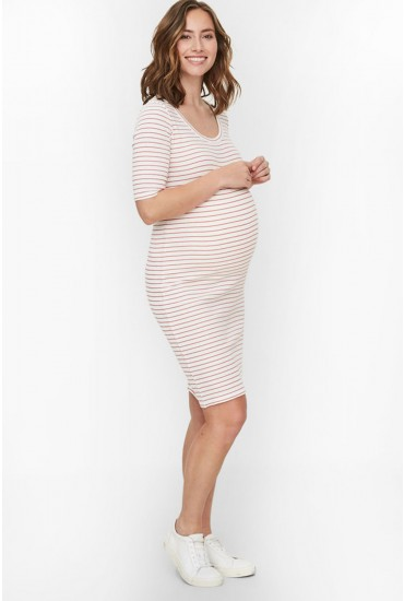 Lilla Maternity Stripe Jersey Dress