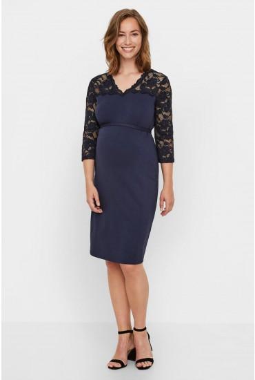 Blackie Mivana Maternity Dress in Navy