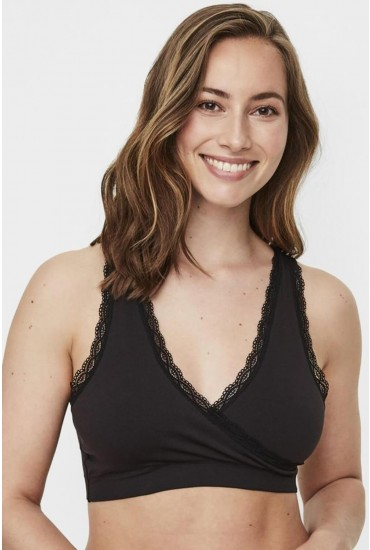 Crossy Maternity and Nursing Bra in Black