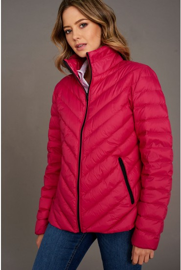 Ibico Lightweight Duck Down Jacket in Cerise