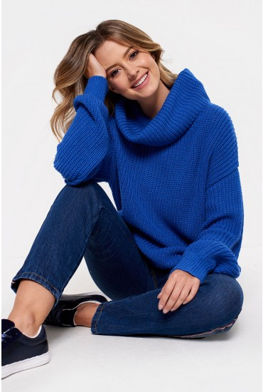 Naru Pullover Knit Jumper in Blue