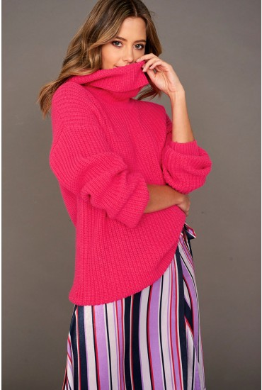 Naru Pullover Knit Jumper in Pink