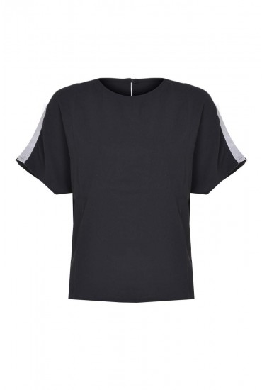 Lonnie S/S Top in Black