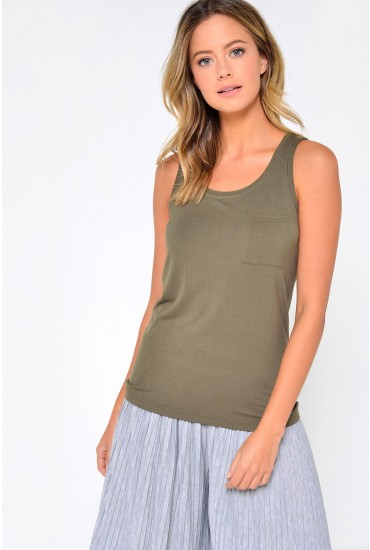 Harry S/L Top in Khaki
