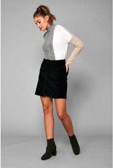 Sunny Short Corduroy Skirt in Green
