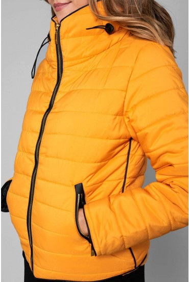 Alanah Puffer Jacket in Amber