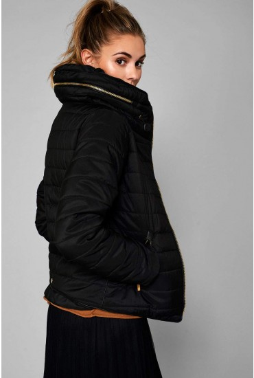Alanah Puffer Jacket in Black