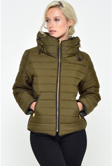 Alanah Puffer Jacket in Green