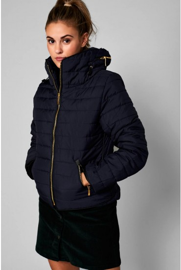Alanah Puffer Jacket in Navy