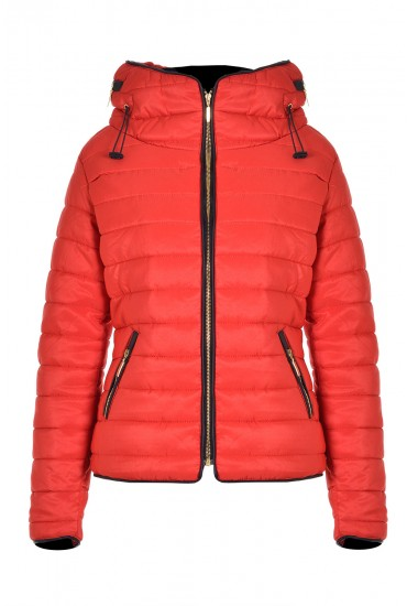 Alanah Puffer Jacket in Red