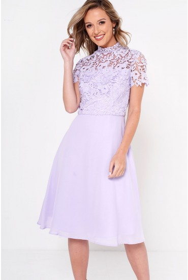 Dixie Crochet Top Dress in Lavender