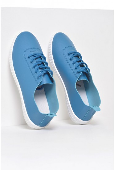 Sarah Lace Up Runners in Blue