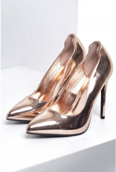 Denise Court Shoe in Rose Gold