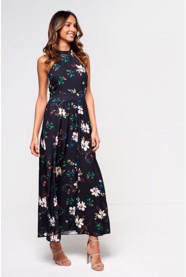 Sidney Floral Print Halterneck Maxi Dress