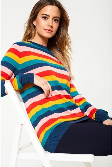 Rita Summer Multi Stripe Sweater