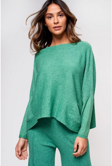 Sabina Relaxed Lounge Jumper in Green