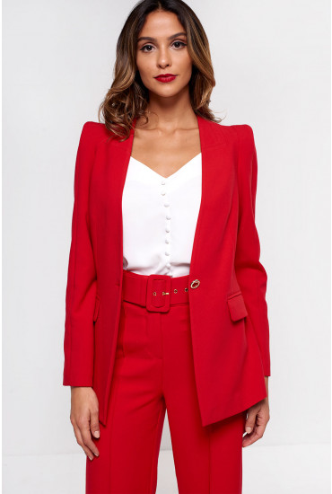 Eliza Tailored Blazer in Red