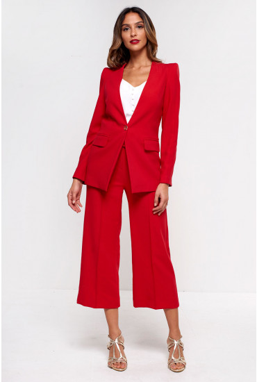 Alice Belted Culottes in Red