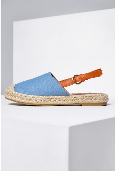 Vicky Slingback Espadrilles in Light Denim